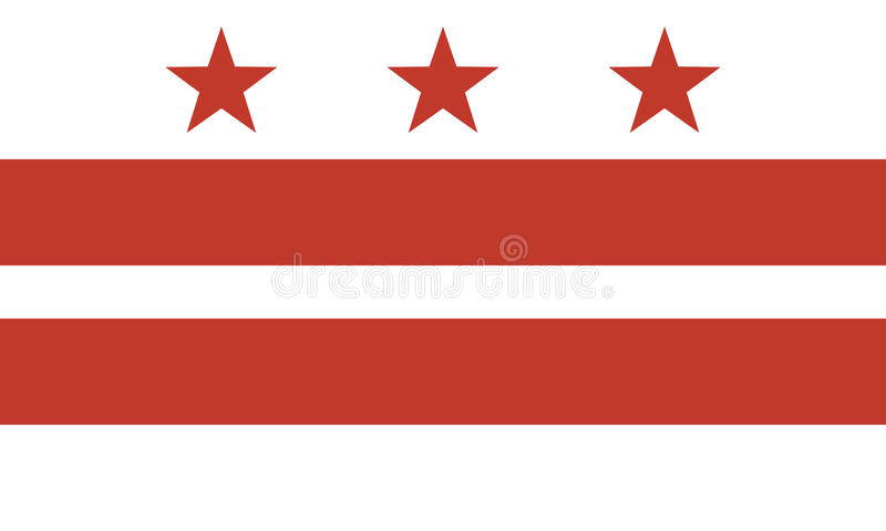 Flag of the District of Columbia royalty free illustration