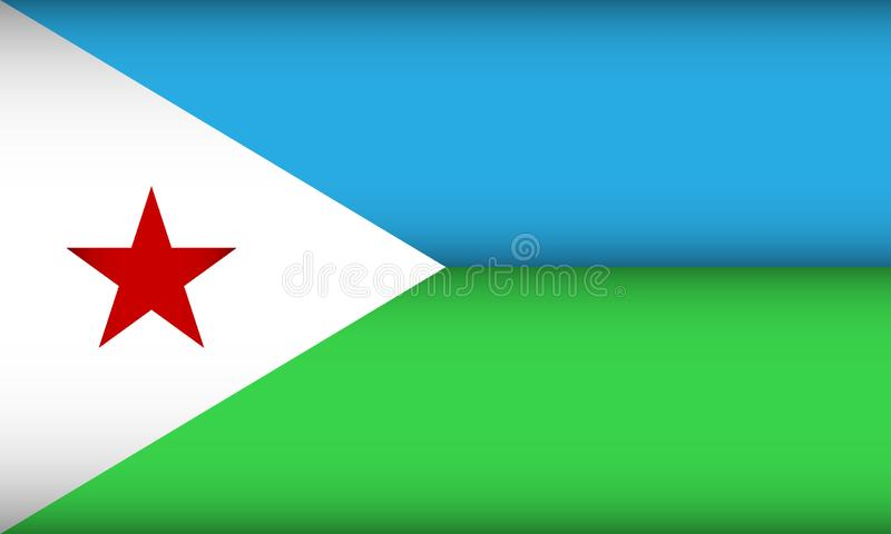 Flag of Djibouti. Vector illustration. Patriotic background royalty free illustration