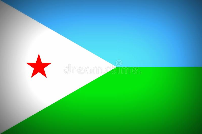 Flag of Djibouti. National flag of the Republic of Djibouti stock illustration