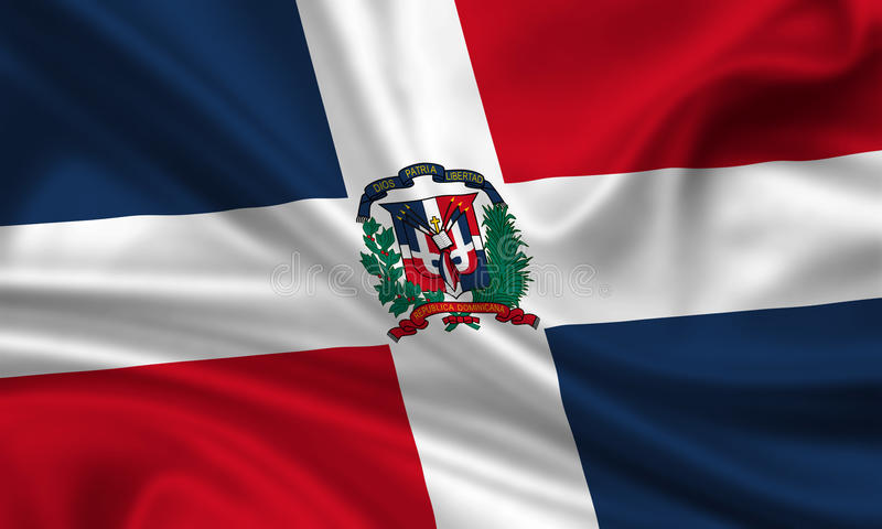 Flag of the Dominican Republic royalty free illustration