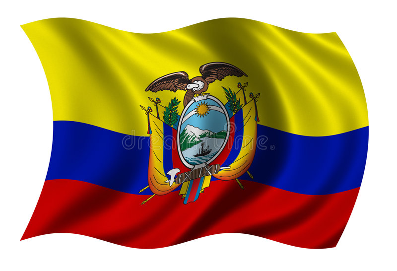 Flag of Ecuador stock illustration