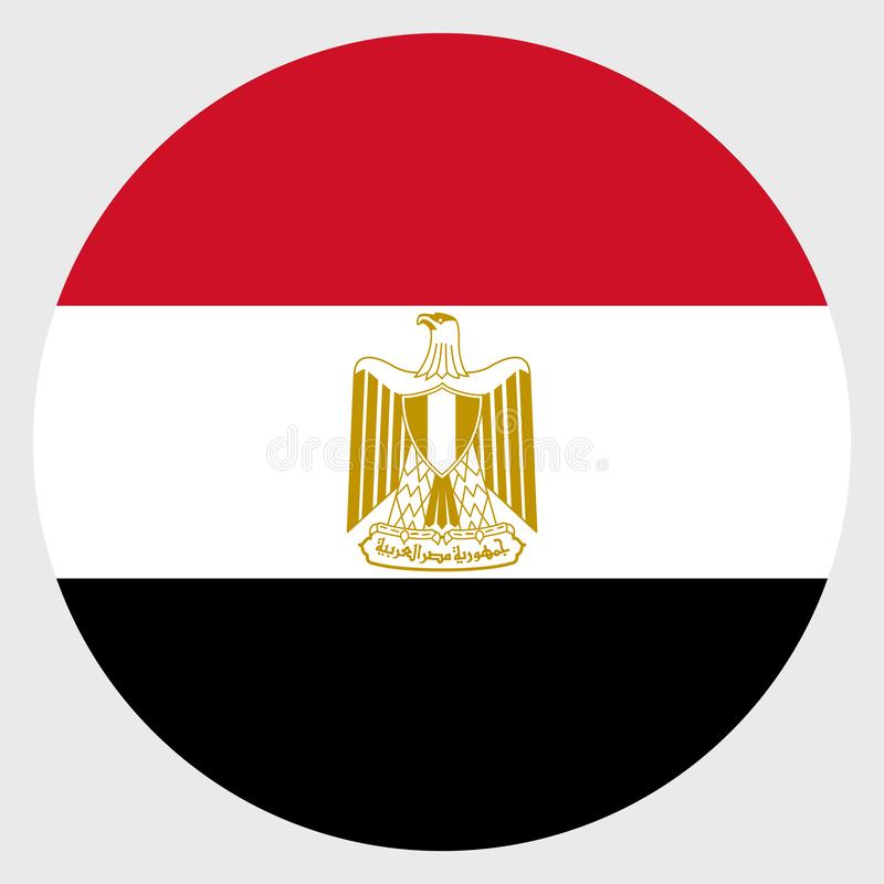 Flag of Egypt royalty free stock photography