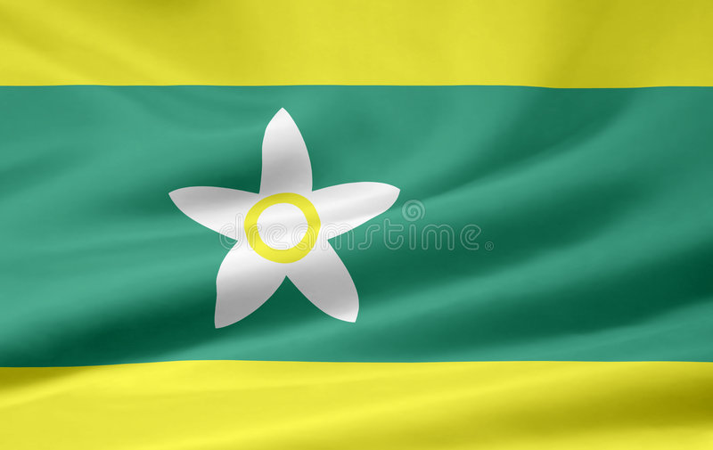 Flag of Ehime - Japan stock photography