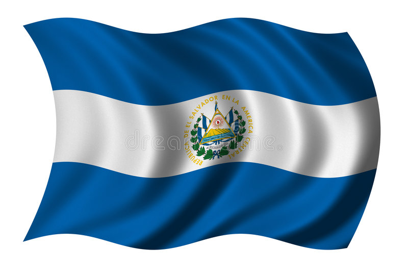 Flag of El Salvador stock illustration