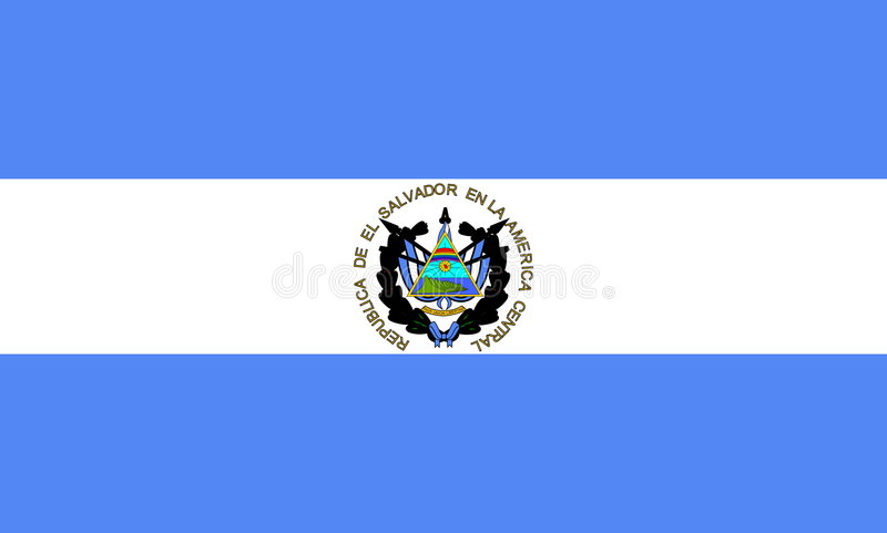 Download Flag of El Salvador stock vector. Image of country, national - 7347102
