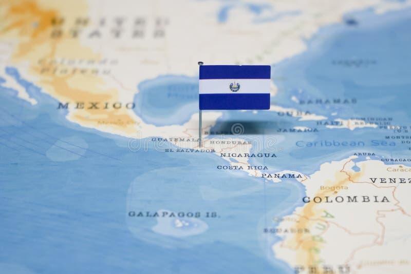 Map Of El Salvador Stock Image Image Of South Render 114900957