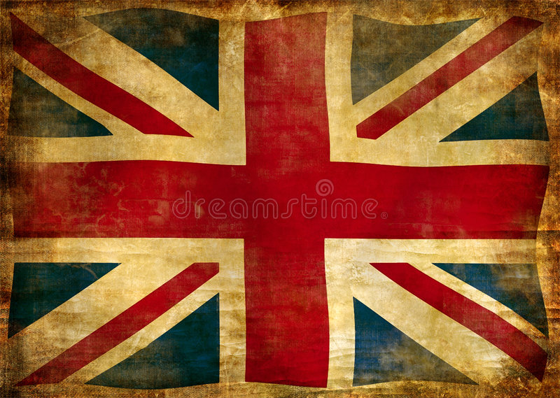 Flag of England. Picture in retro grunge style