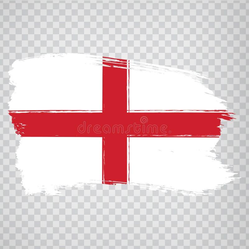 Flag England from brush strokes. Flag England on transparent background for your web site design, logo, app, UI.  UK. Stock vector.  EPS10 stock illustration