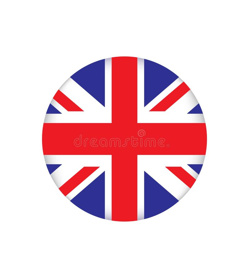 Flag of England is a country that is part of the United Kingdom. Vector illustration EPS 10. stock illustration