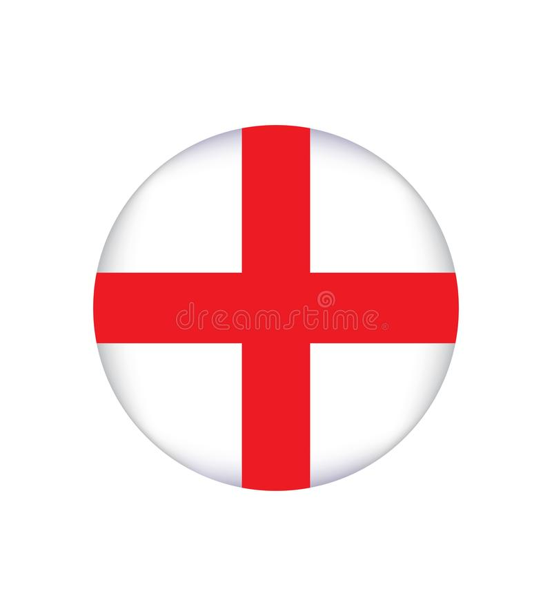 Flag of England is a country that is part of the United Kingdom. Vector illustration EPS 10. Flag of England. White background, red cross royalty free illustration