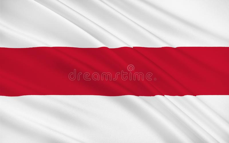 Flag of Enschede, Netherlands. Flag of Enschede also known as Eanske in the local dialect of Twents, is a municipality and a city in the eastern Netherlands in royalty free stock photography