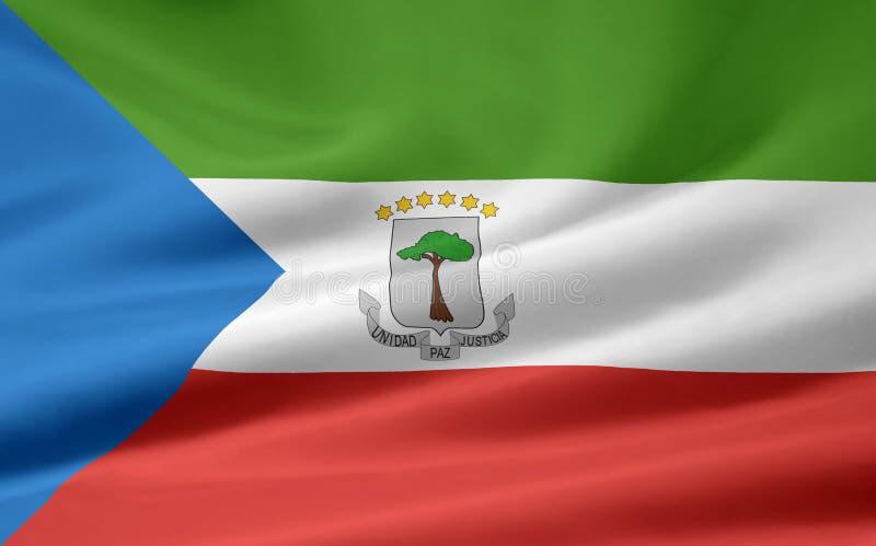 Flag of Equatorial Guinea royalty free stock photo