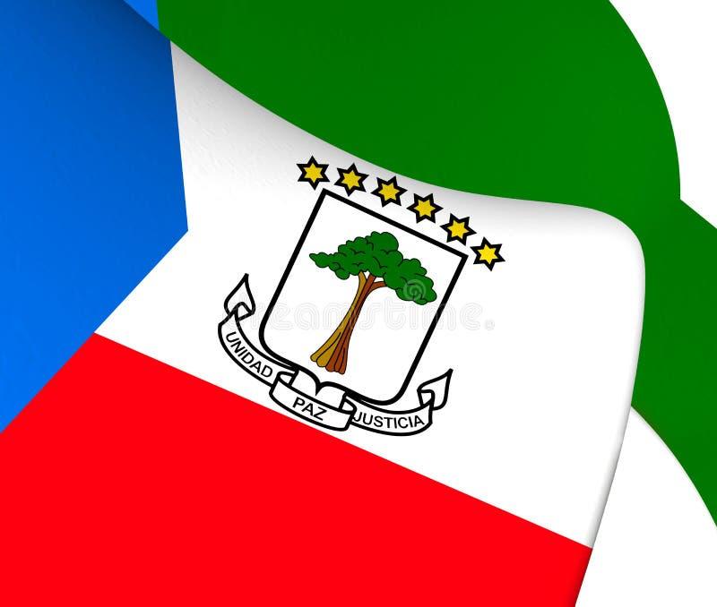 Flag of Equatorial Guinea. Close Up vector illustration