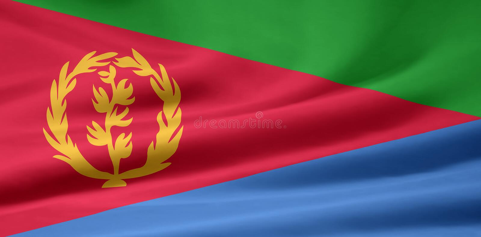 Flag of Eritrea stock illustration