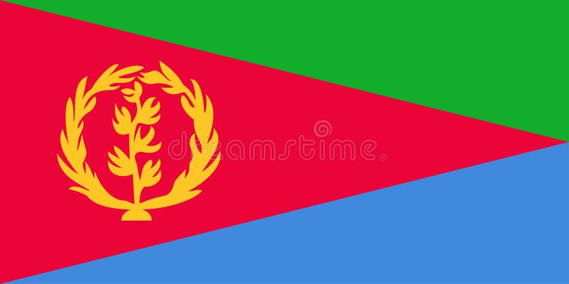 Flag of Eritrea royalty free illustration