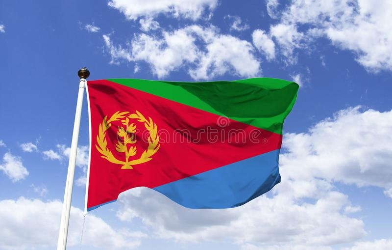 Flag of Eritrea, struggle for independence. Flag of Eritrea, used by the Eritrean People`s Liberation Front, in its struggle for independence. In colors: green stock images