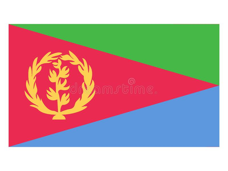Flag of Eritrea royalty free illustration
