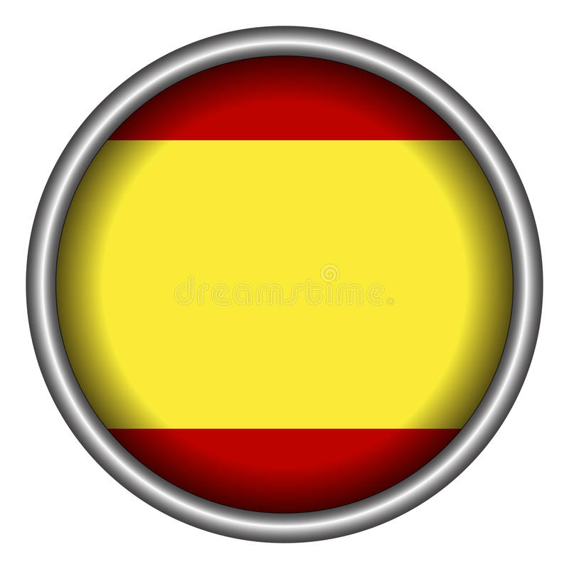 Flag8 espagnol d'isolement illustration de vecteur