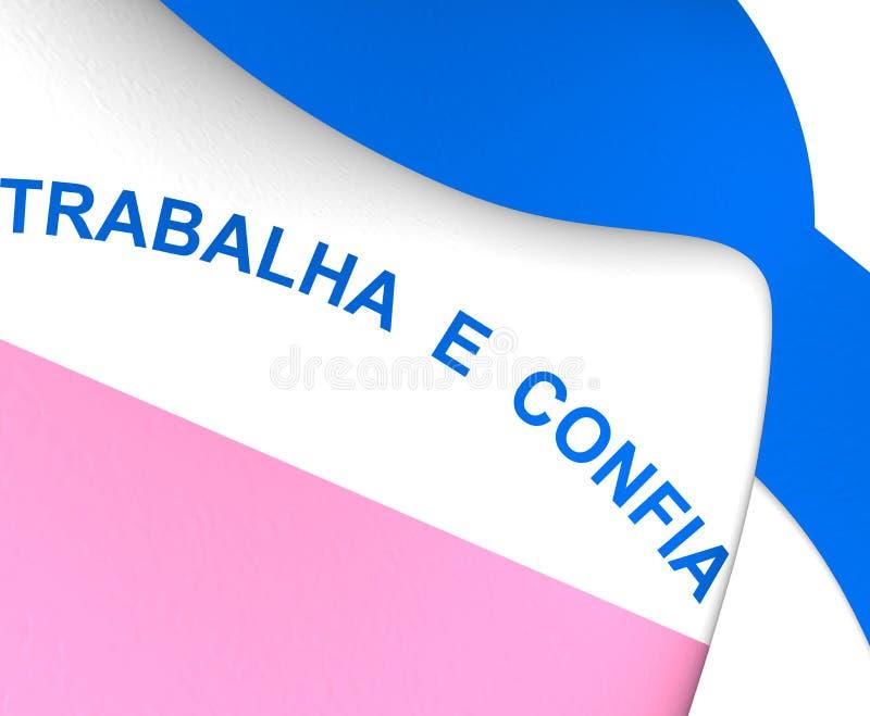 Flag of Espirito Santo, Brazil. 3D Flag of Espirito Santo, Brazil. Close Up vector illustration