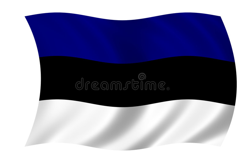 Flag of estonia royalty free illustration