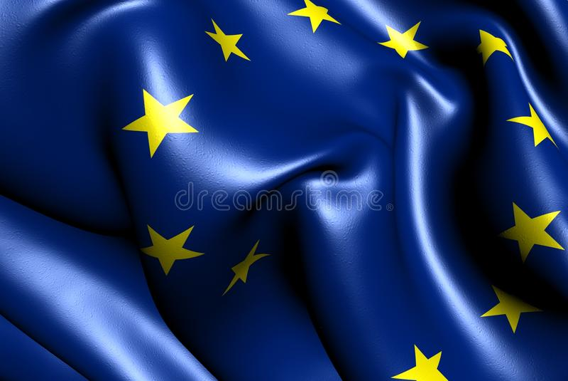 Download Flag of EU stock illustration. Image of macro, waving - 24004088