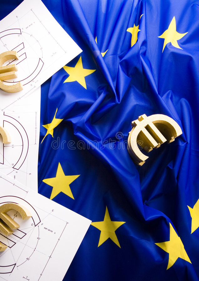 Flag & Euro royalty free stock photos