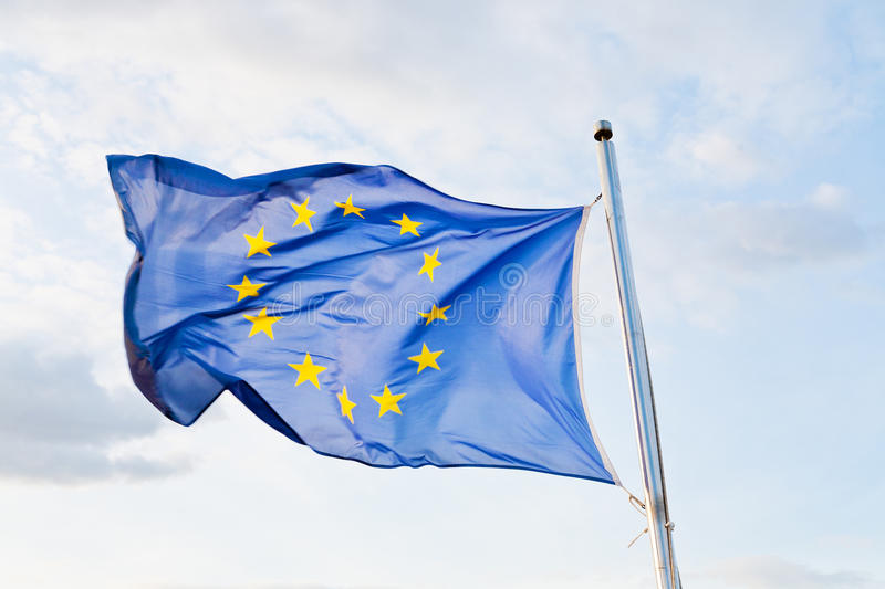 Download Flag of Europe stock image. Image of blow, european, twilight - 24732827
