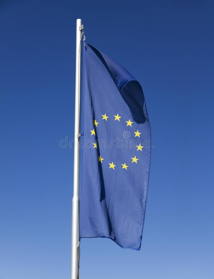 Download Flag of Europe stock image. Image of folded, euro, international - 26269851