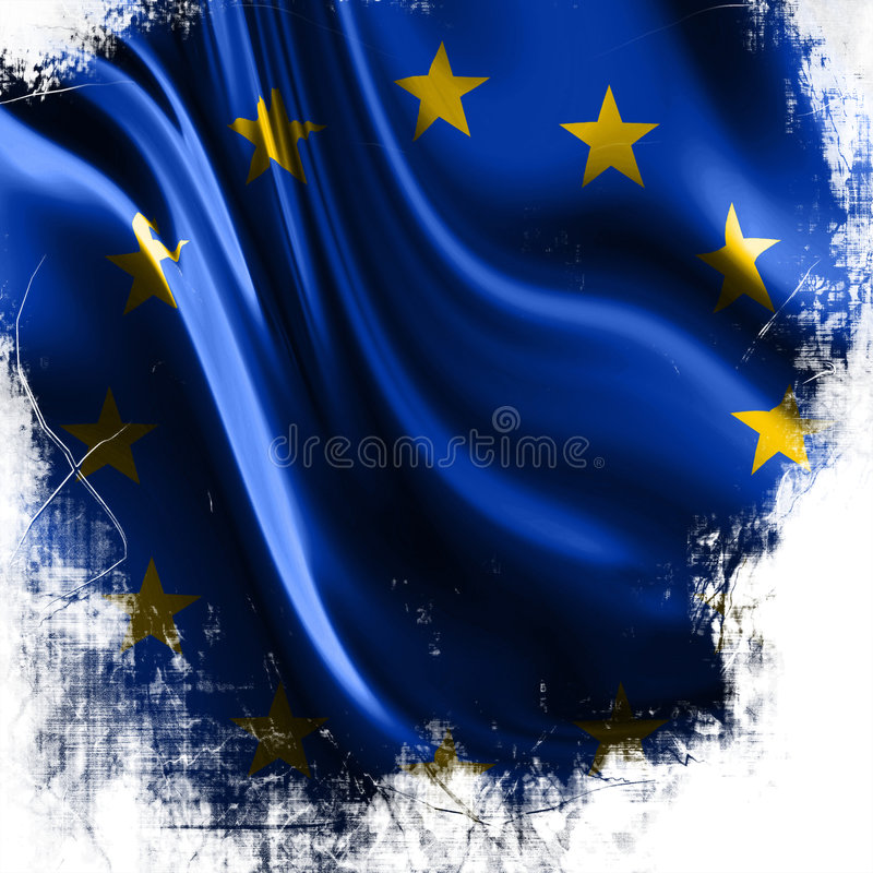 Flag of europe stock illustration
