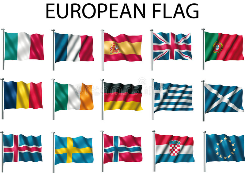 Flag european stock illustration