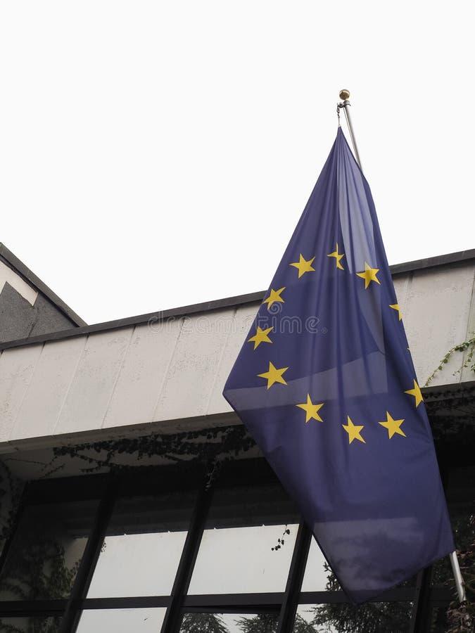 Flag of the European Union (EU. ) aka Europe royalty free stock photos