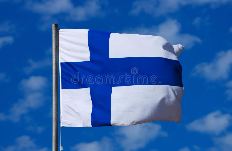 Download Flag of Finland stock image. Image of blow, nordic, finnish - 19742321