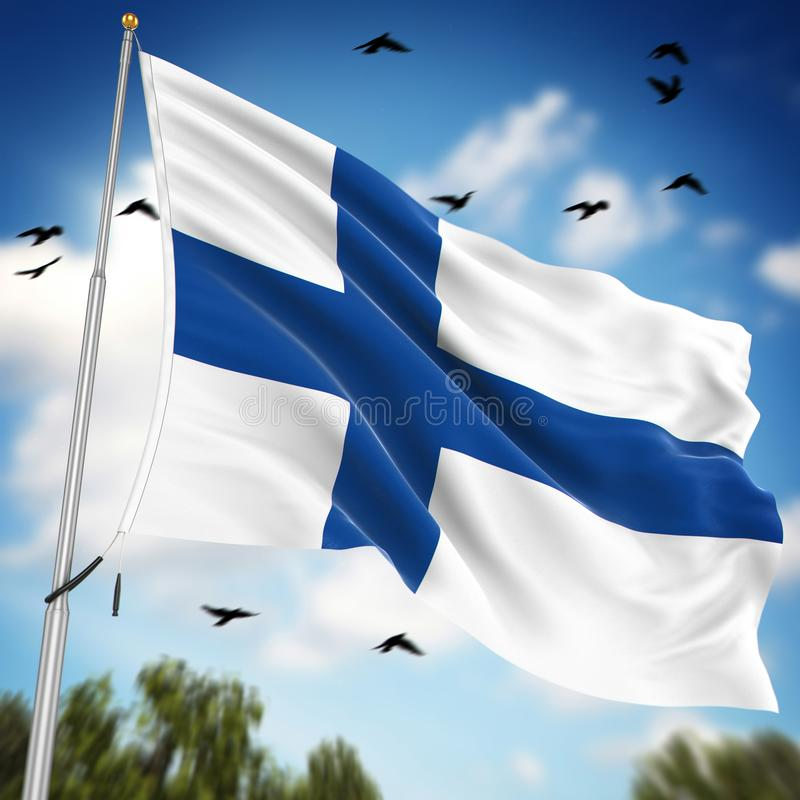 Flag of Finland vector illustration