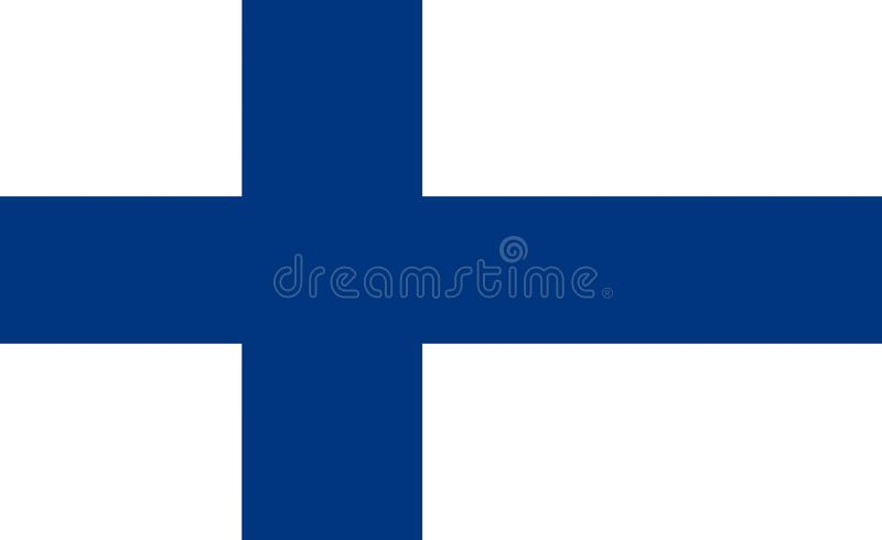 Flag of Finland royalty free illustration