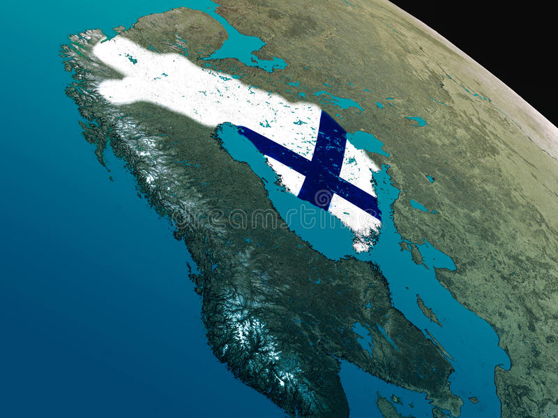 Download Flag Of Finland From Space Stock Illustration - Image: 83723960