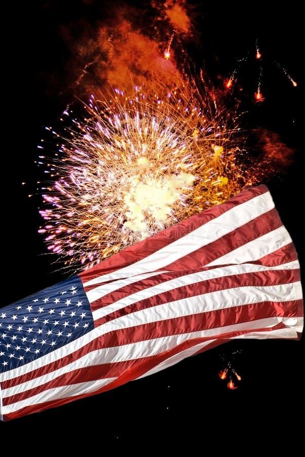 Flag / Fireworks Background royalty free stock images