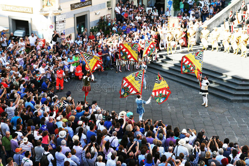 Download Flag flyers at amalfi editorial photography. Image of parade - 27847737