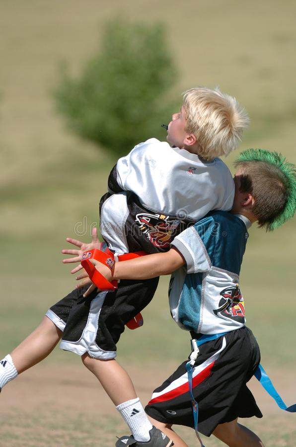 Flag Football Game. stock photography