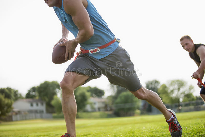 Flag Football Player Run Royalty Free Stock Images
