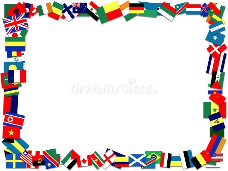 Flag frame. Illustration of a frame made of many flags