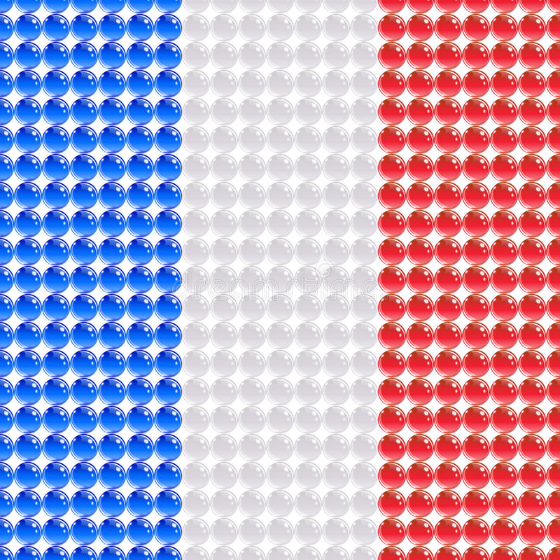 Flag Of The France Made Of Leds. Stock Images