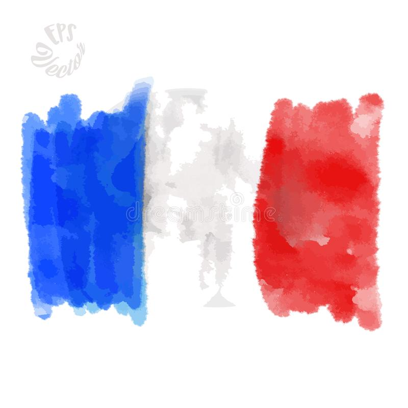 flag of france painted strokes stock vector - illustration of