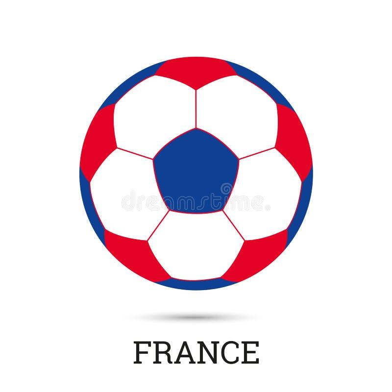 Flag of France soccer ball vector illustration