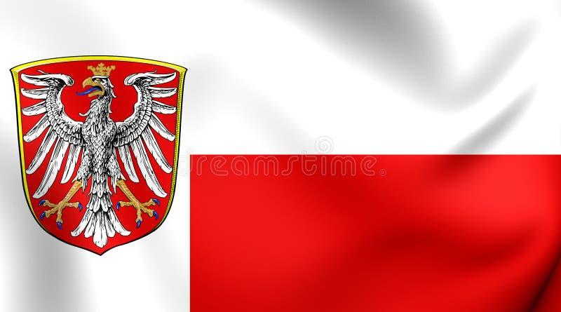 Flag of Frankfurt am Main, Germany. 3D Flag of Frankfurt am Main, Germany. Close Up vector illustration