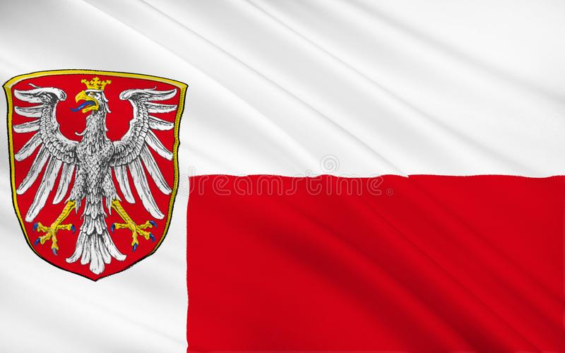 Flag of Frankfurt am Main is the largest city in the German stat royalty free illustration