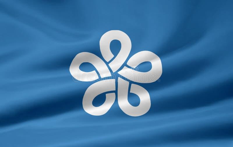 Flag of Fukuoka - Japan stock photography