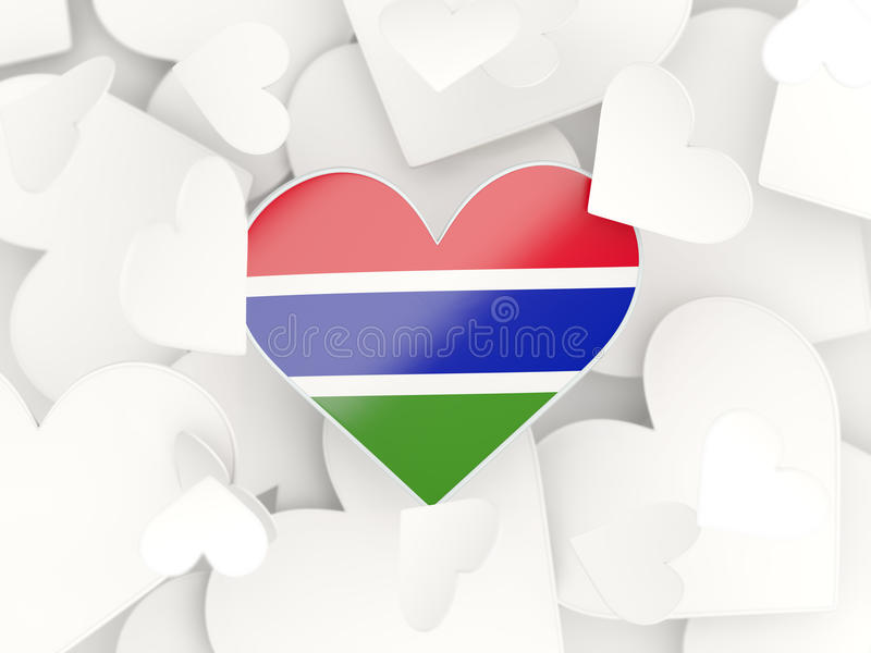 Download flag of gambia heart shaped stickers stock illustration illustration of pattern icon