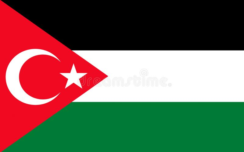 Flag of Gaza, Palestine. Flag of Gaza City is Palestinian city in the Gaza Strip it the largest city in the State of Palestine royalty free illustration