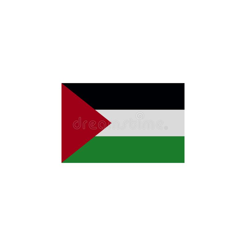 Flag of Gaza strip colored icon. Elements of flags illustration icon. Signs and symbols can be used for web, logo, mobile app, UI. UX on white background stock illustration