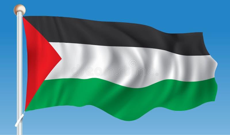 Flag of Gaza Strip. Vector illustration royalty free illustration